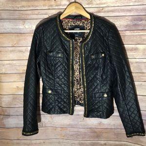 ABS Allen SCHWARTZ quilted leather jacket